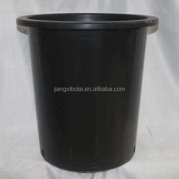 Recycled Pp Material 15 Gallon Black Plastic Flower Nursery Pots