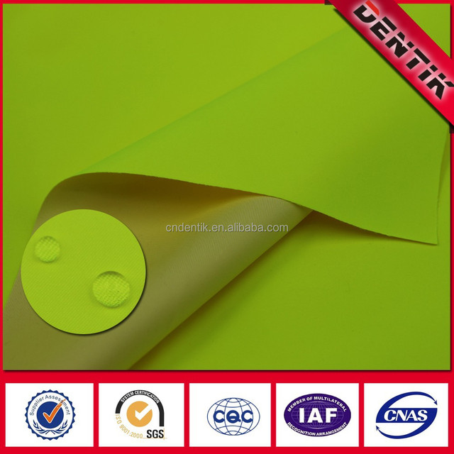 EN20471 3-layer HV Yel Waterproof Breathable Twill fabric, Laminated fabric with PTFE membrane For Protective Clothing