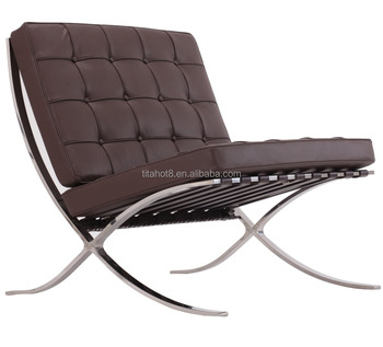 Barcelona 3 Seater 2 Seater Sponge Polished Metal Frame Leather