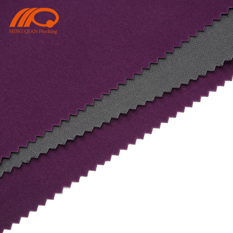 100% polyester knit fleece brushed tricot flocking fabric