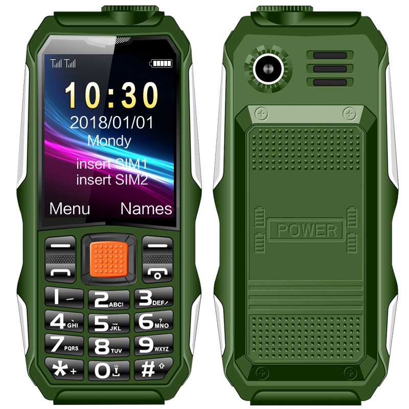 1.8 Inches TFT Screen Feature Cell Phone Long Standby Outdoor Phone Rugged Mobile Phone for H1