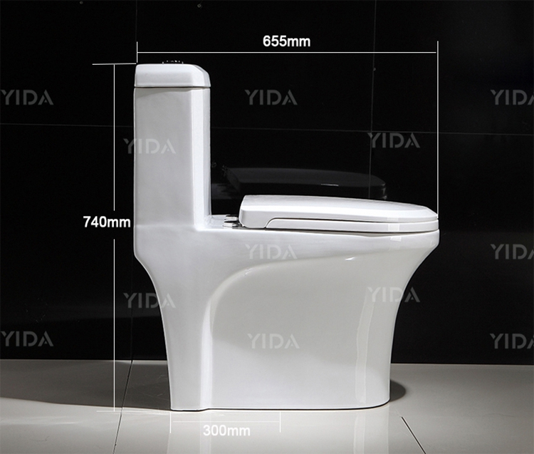 Hot Sale Ceramic Wc Sanitary Ware Color One Piece Toilet
