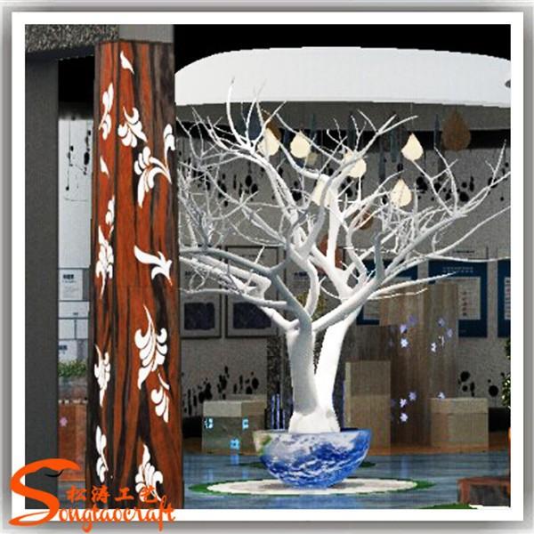 Artificiale albero no senza foglie rami bianco per albero - Arboles secos decorados ...