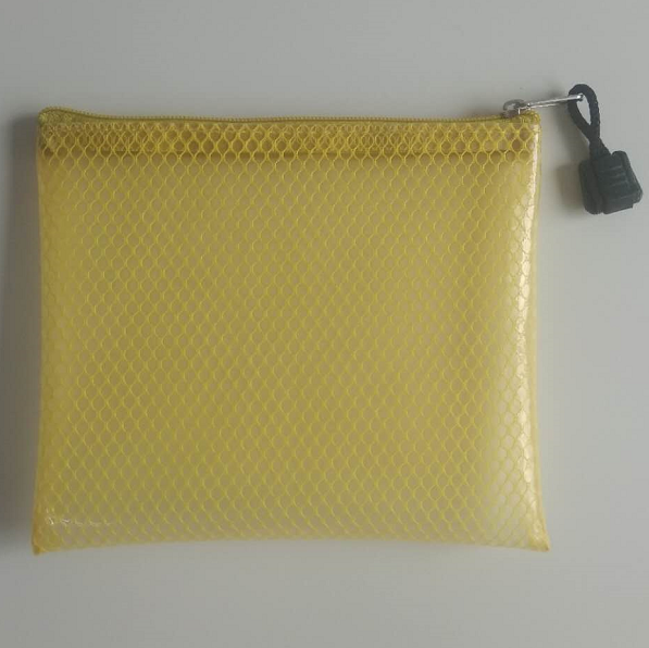 Custom Size Promotion Mesh Cosmetic Bag Cosmetic Pouch Transparent