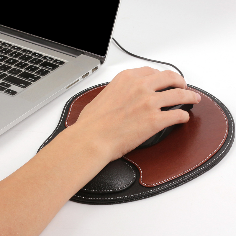leather modern design desk computer gaming keyboard wrist rest mouse pad with custom logo printed