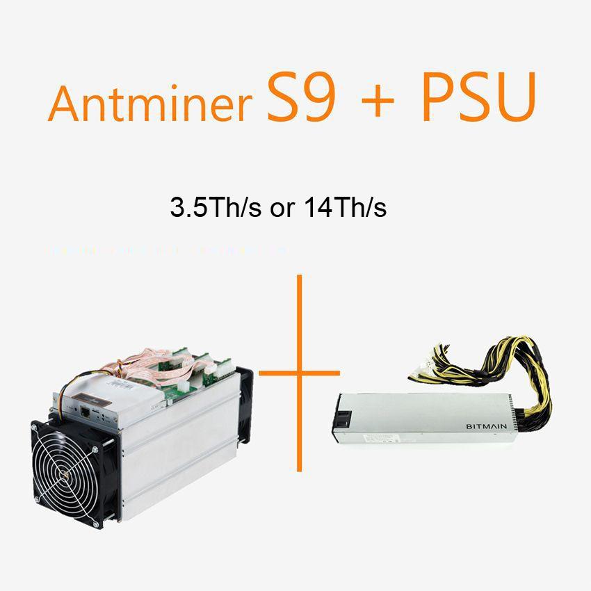 Original New Good Price Stock 135T Or 14T Bitmain Antminner S9 Bitcoin Miner Machine