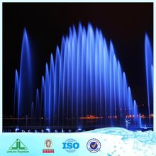 Screen Movie Show Dancing Water Fountain Show With LED Light