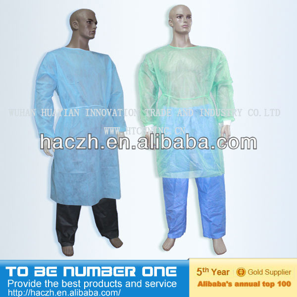 disposable sterile gown,cpe plastic gown,disposable cap and gown