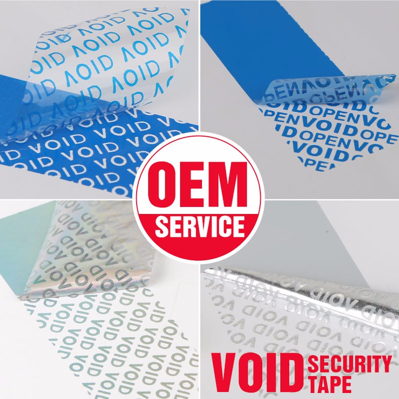 Custom Holographic Hologram Anti-Fake Anti-counterfeit Labels Paper Void Warranty Security Anti-theft Sticker