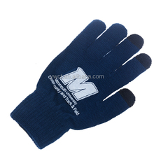 Wholesale Custom Promotion Winter Acrylic Knit Warm Texting Gloves for Capacitive Mobile Smart