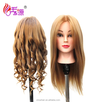 Salon Cosmetology High Tempreture Synthetic Hair Hairdressing Practice Training Head Mannequin Head