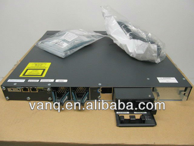 Stackable 48 10/100/1000 Ethernet PoE+ ports Switch WS-C3750X-48PF-S
