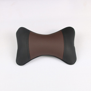 Dog bone shape pillow leather free sample removeable cover office home and car seat headrest cushion neck pillow