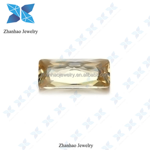 light champagne zircon excellent cutting baguette shape gem stone cz stone