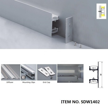 8set, 2M Wall Mounted Led Aluminum Profile,Aluminum LED profile for wall light,without internal driver, Light from Up and down