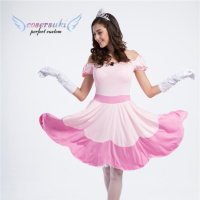 Pink princess fairy tale cosplay costume Halloween stage costume dance dress