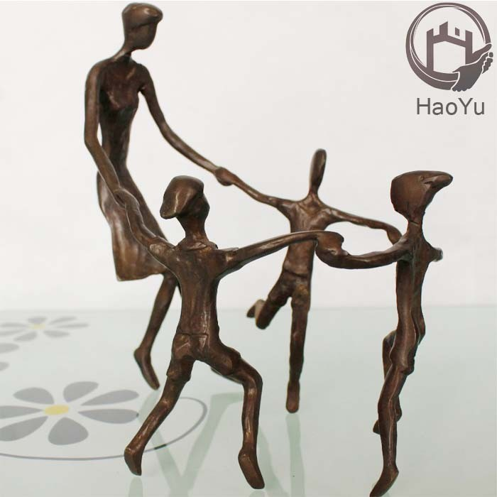 casting metal bronze mother and child sculptures for home decoration