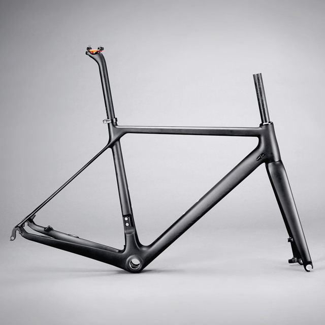 CHINA Hong fu bikes with size 47/50/53/56/58/60cm road bike carbon frame.a carbon disc brakeroad frame