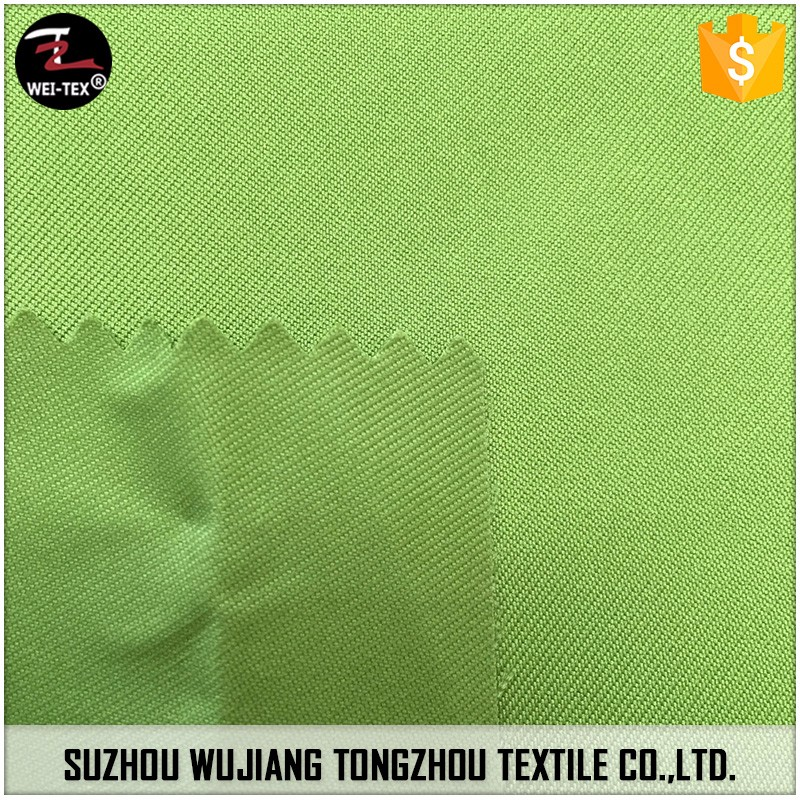 100% Polyester Twill Textured Yarn Fabric with Transparent PU Coating for Softshell Jacket