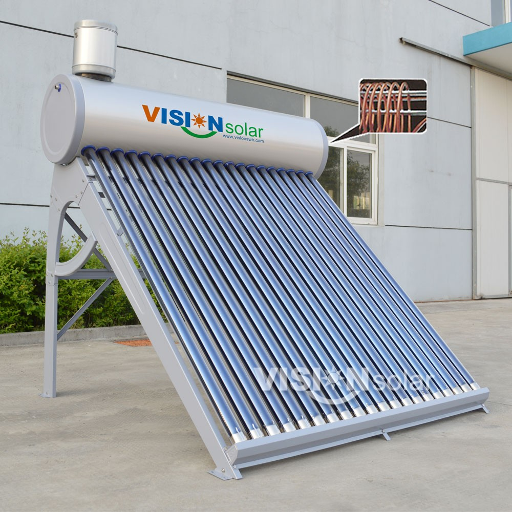 High Quality Copper Coil Turkey Solar Water Heater With Long Working ...