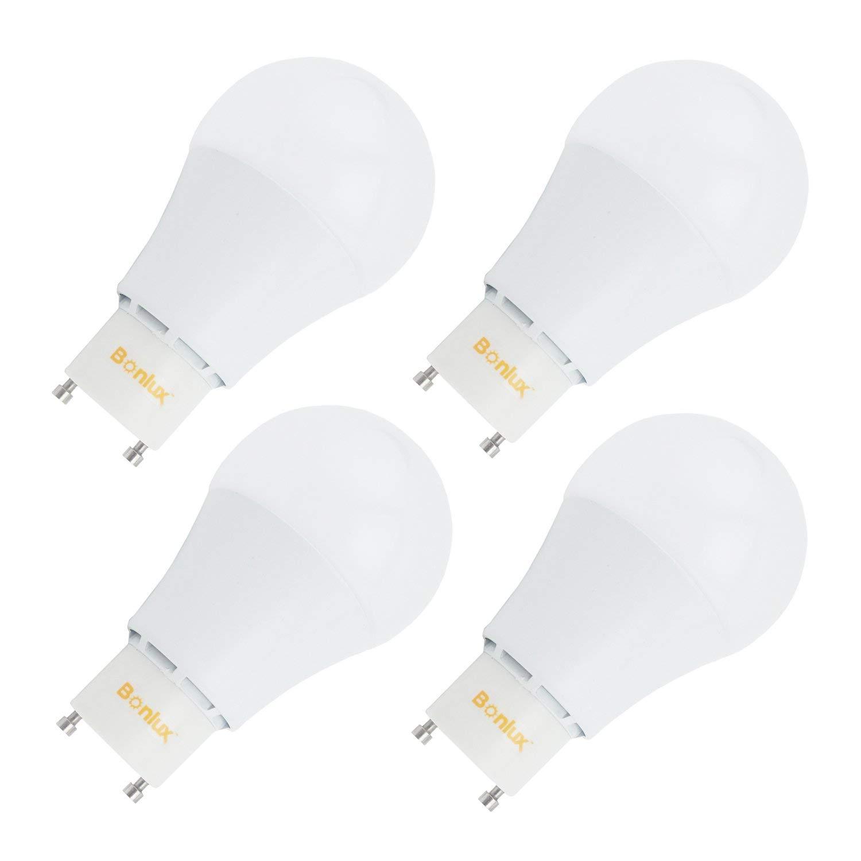 Bonlux LED GU24 Base Bulb Light 9W 850lm 60-Watt Equivalent GU24 LED Replacement Daylight 6000K for Pendants, Table Lamps, Accent Lighting, Down Lighting(pack of 4)