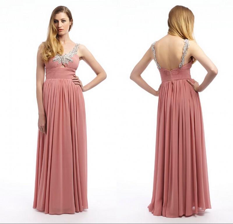 0ff82e78bf4 Get Quotations · Simple Elegant Long Chiffon Evening Women Formal Dress  Beading Spaghetti Strap Cheap Prom Gown