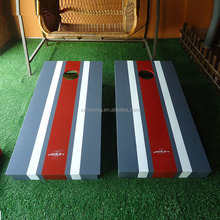Garden wood bean toss game cornhole board with two boards cornhole