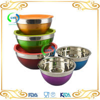 China supplier unique design 3pcs stainless steel mixing bowls set