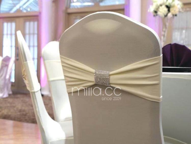 Wedding Spandex Chair Band With Diamond Buckle Spandex