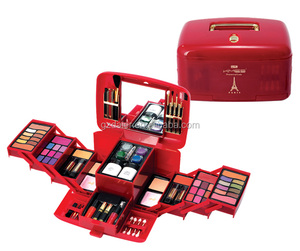 KMES brand face full sets big makeup kits with eyeshadow, blusher, face powder, lipgloss and brusher, C-877