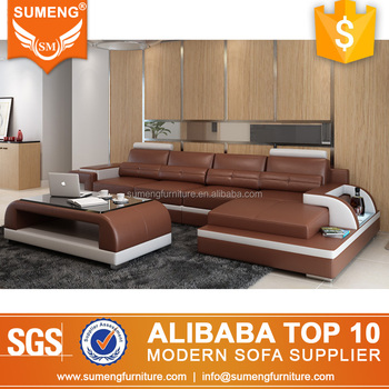 Luxury L Shape Italian Top Grain Leather Sofas Furniture Manufacturers In Guangzhou