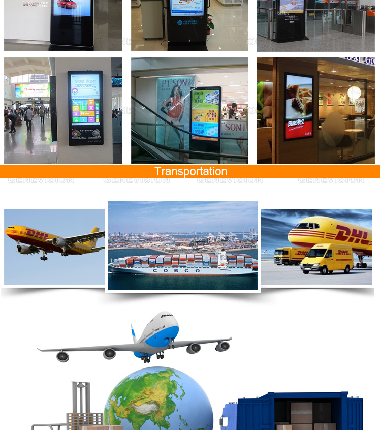 best quality 43'' full hd totem lcd advertising display free standing advertising signs