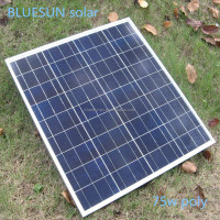 polycrystalline solar panel 36cells 75w 18v