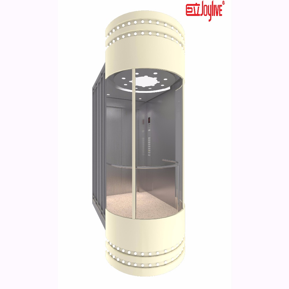 Cheap outdoor sightseeing glass home lift elevators