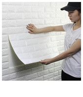 Innovative waterproof 3d pe foam brick self adhesive wallpaper 3d wall paper