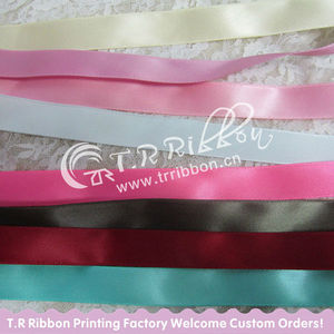 hot sell colorful polyester satin ribbon
