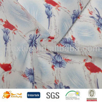 polyester fabric printed on mesh fabric