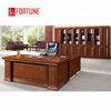 OEM design custom made secretary office table with side cabinet