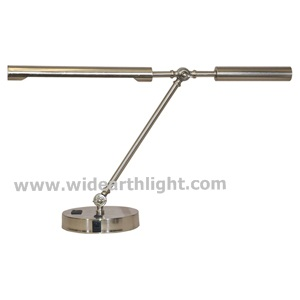 UL Listed Modern Design Brushed Nickel Hotel Adjustable Metal Desk Lamp With Outlet T50058