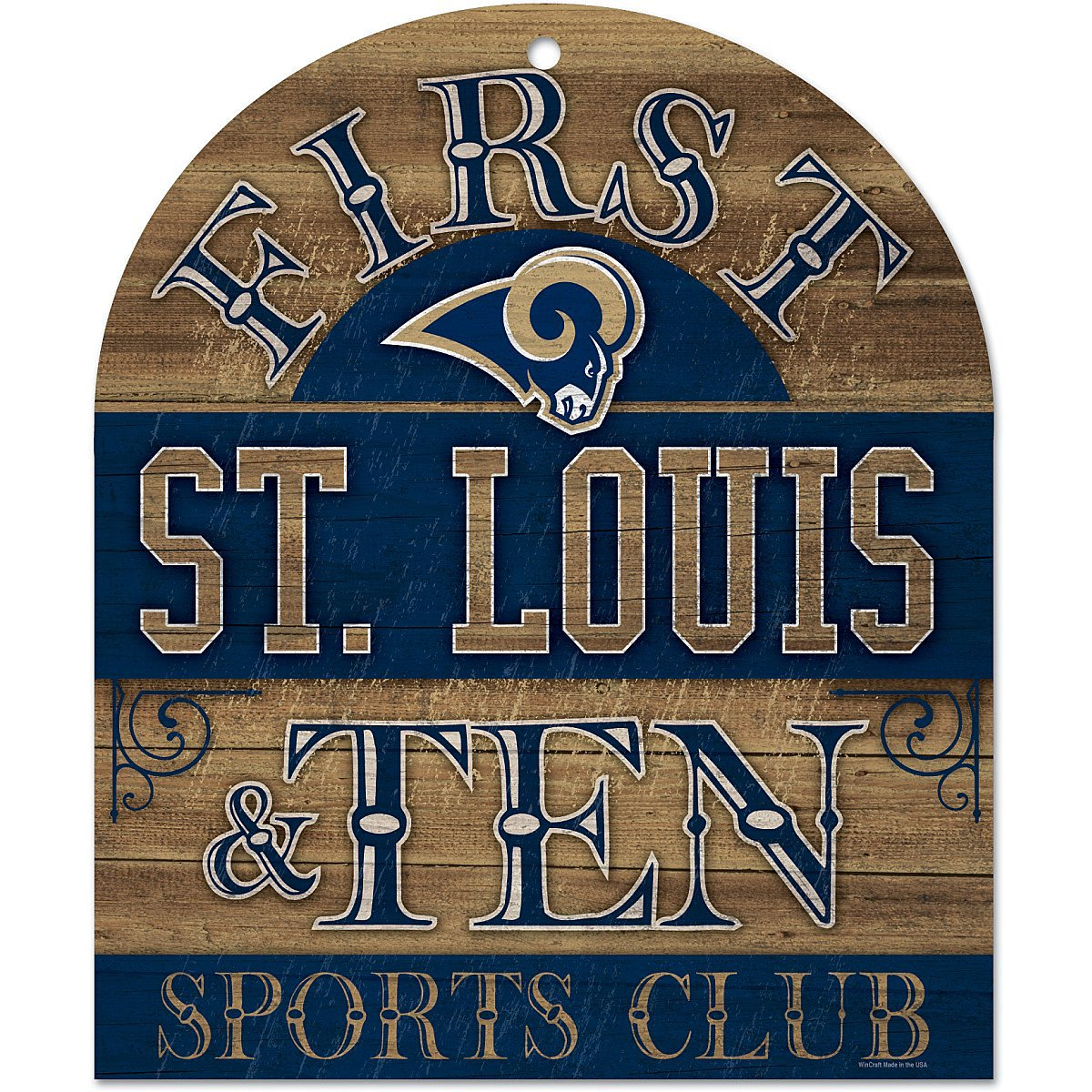 Wincraft St. Louis Rams 10x11 Club Wood Sign