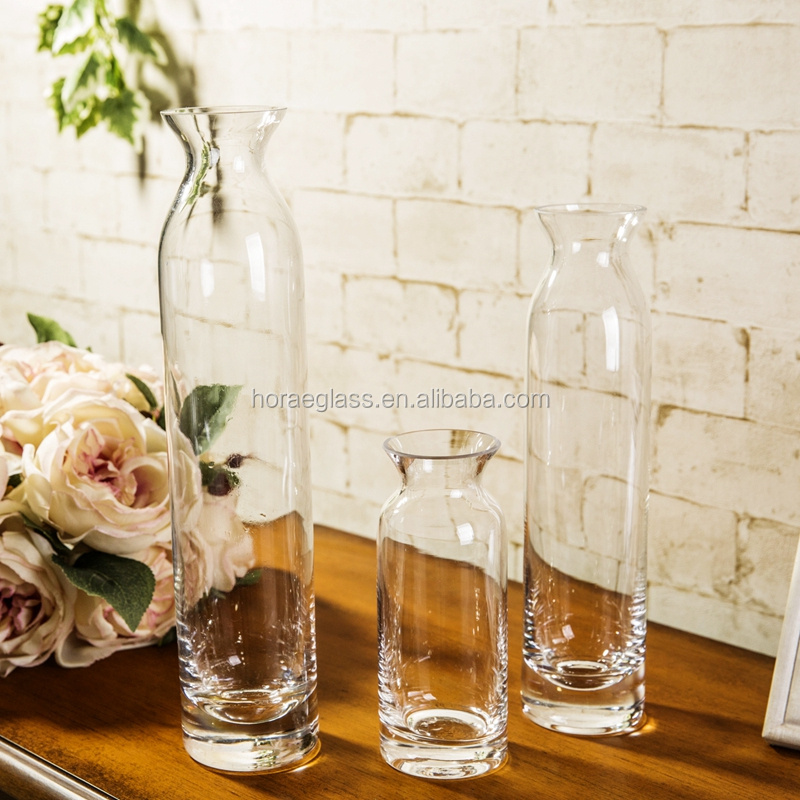 Mouth Blown Glass Vase Types Of Flower Vase Clear Glass Flower Vase