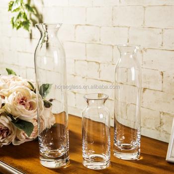 Mouth Blown Glass Vase Types Of Flower Vase Clear Glass Flower Vase