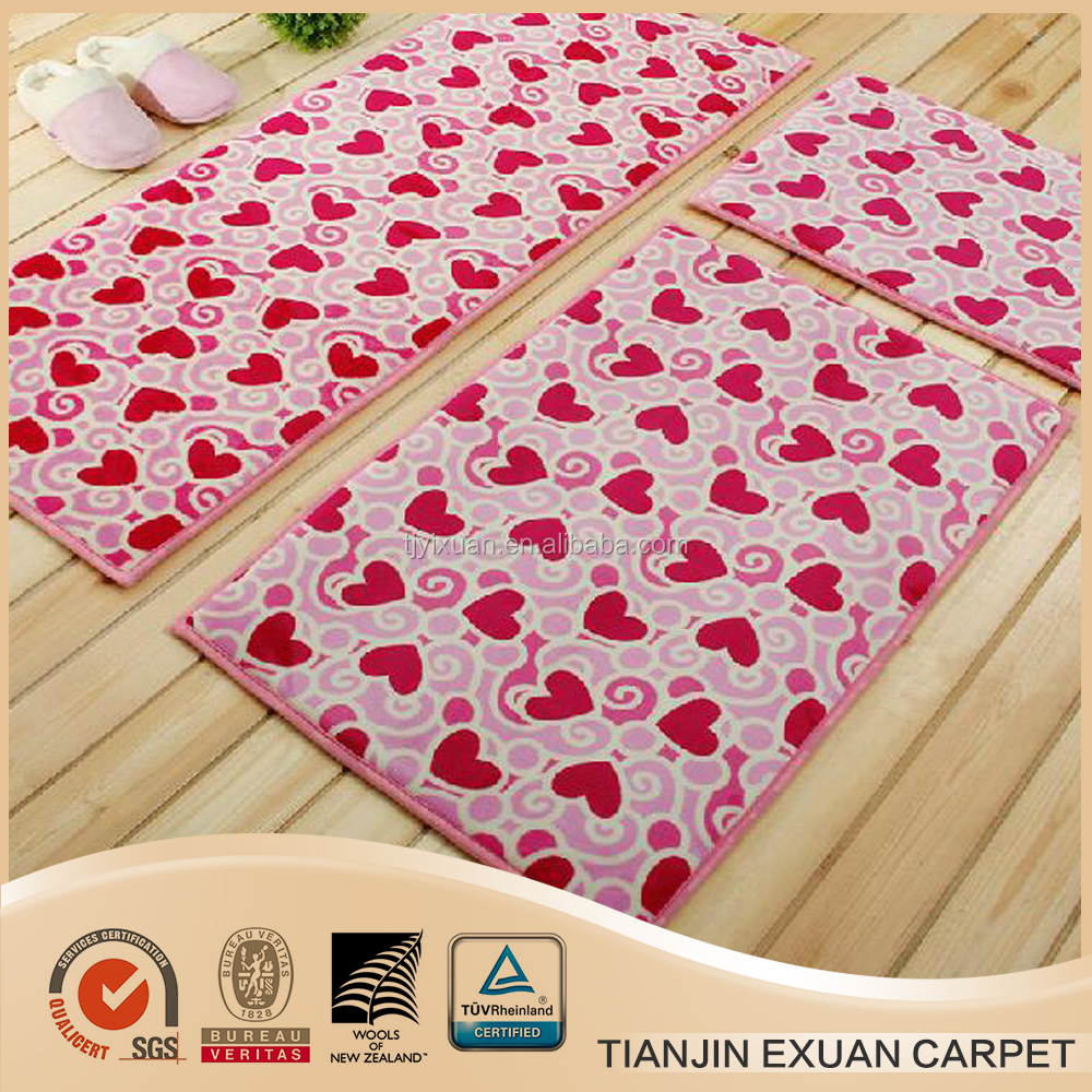Cheap printed washable rubber anti-slip door mats