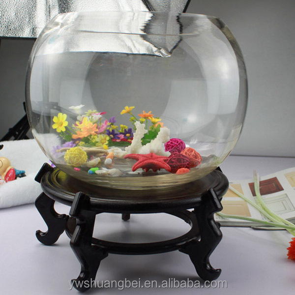 gro handel billige sch ne runde borosilikat glas goldfischglas aquarium f r zu hause dekorative. Black Bedroom Furniture Sets. Home Design Ideas