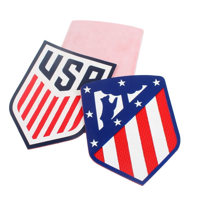 Iron on Custom Shape High Density Screen Printing Silicone Logo Heat Transfer Patches for Jerseys