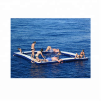 High quality floating inflatable sea pool /inflatable boat swimming pool / inflatable deck raft for boat
