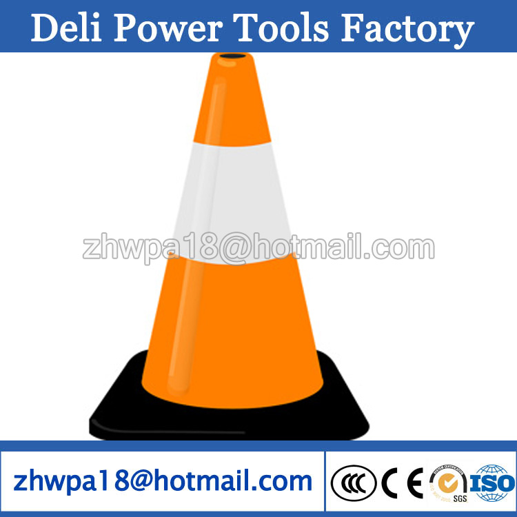 heavy base Moulded Rubber Traffic Cone with top quality