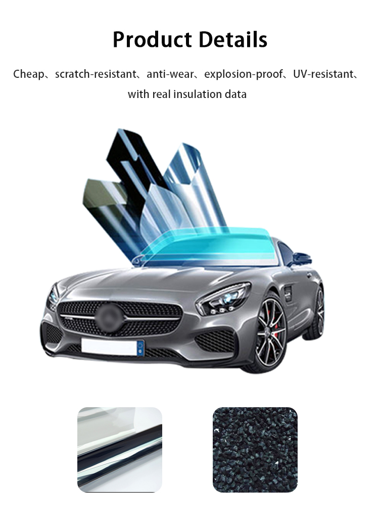 ZY-C-009 privacy protection static cling window  visor car sun shade film