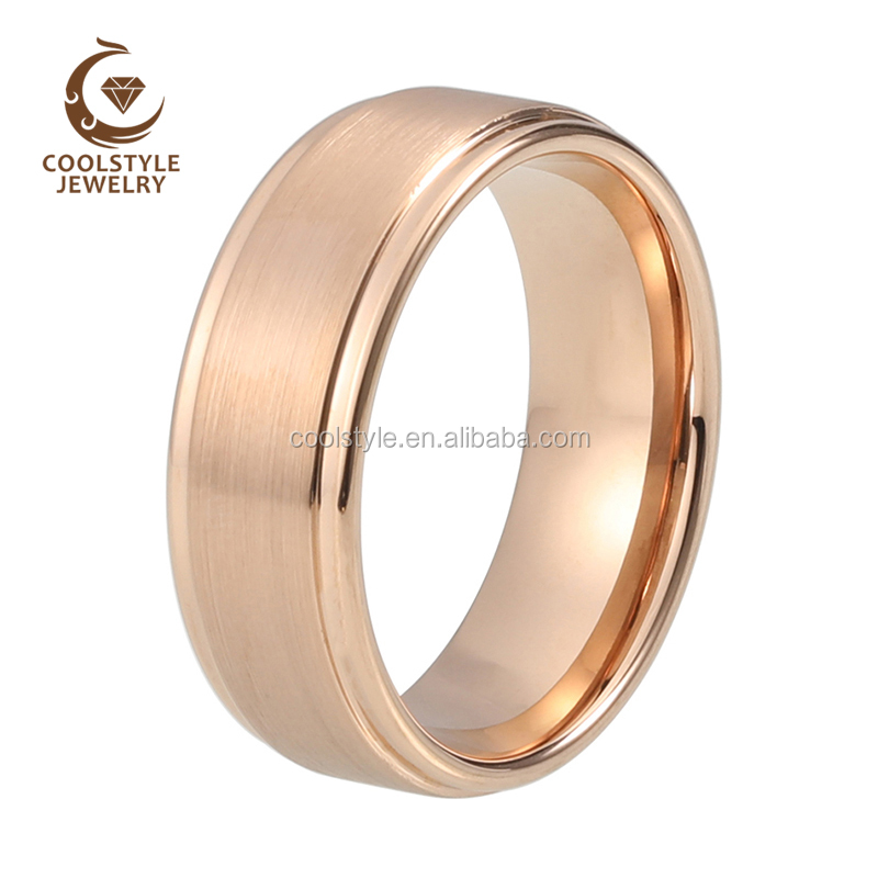 High Polished Comfort Fit Tungsten Carbide Anniversary Ring Mens 9mm Pipe Cut Edge Wedding Band