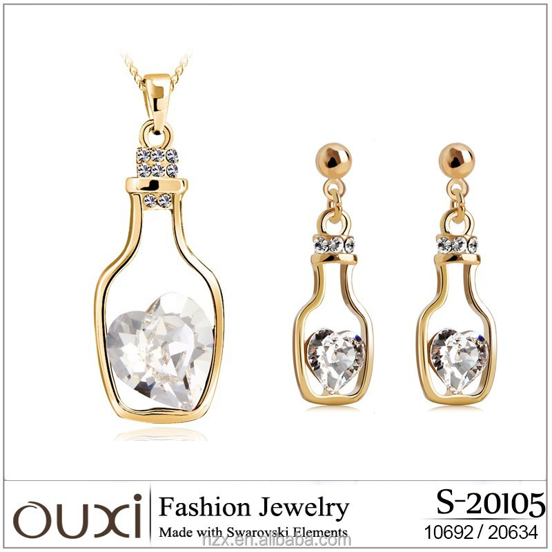 OUXI imitation gold plated jewellery sets S-20105